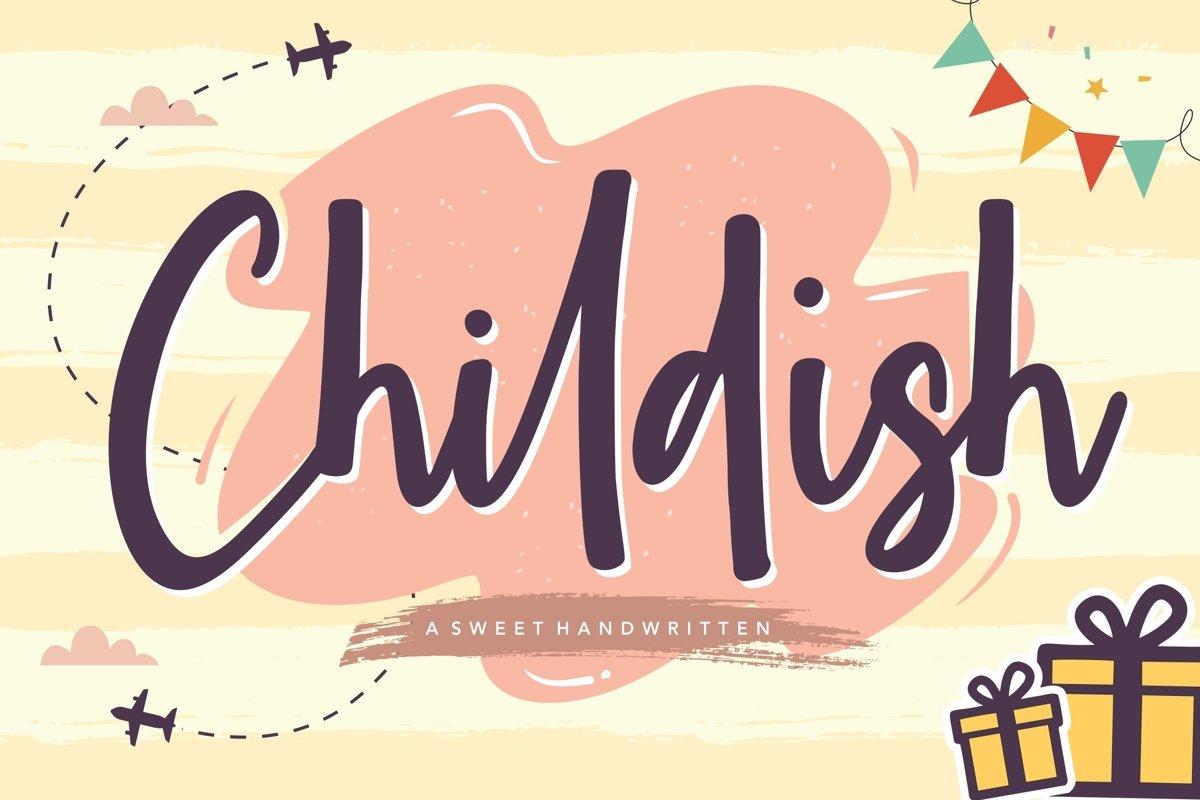Childish Sweet Handwritten Font example image 1