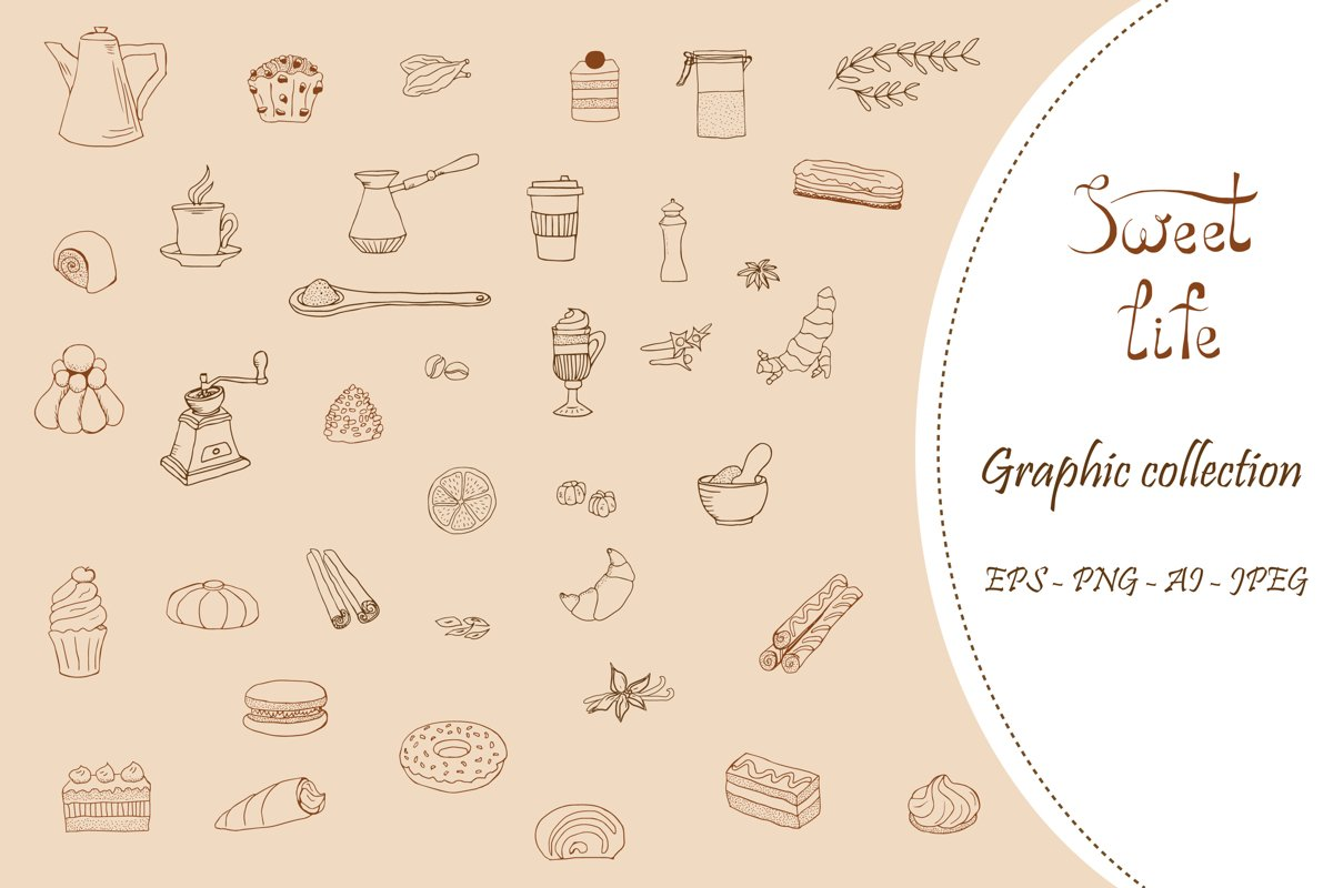 Sweet Life - Graphic Elements Collection example image 1