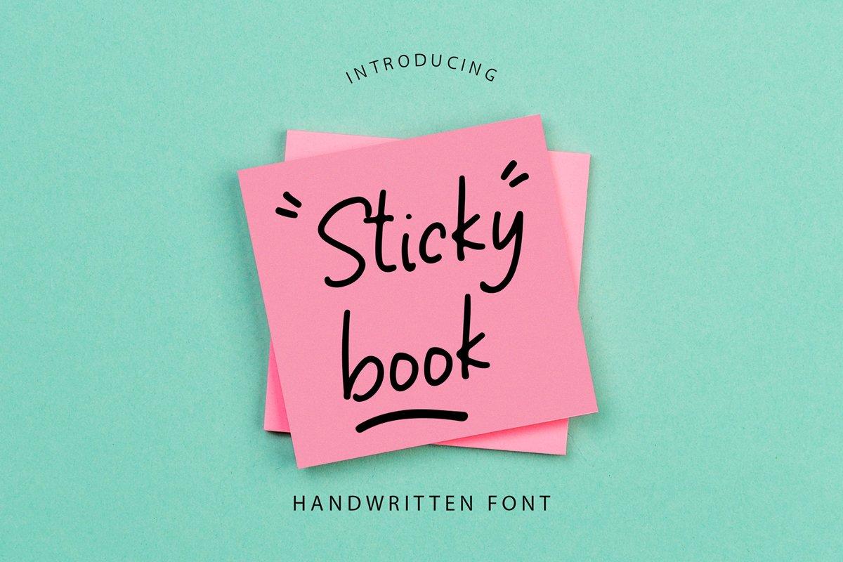 Sticky Book Modern Handwritten Font example image 1