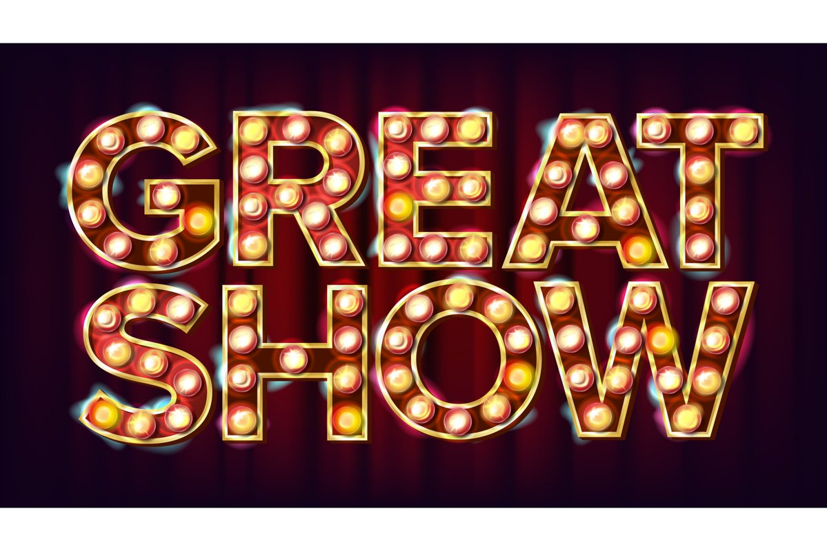 Great Show Banner Sign Vector. For Traditional Design. example image 1