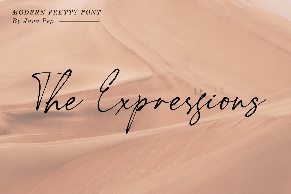 The Expressions / modern pretty font example image 1