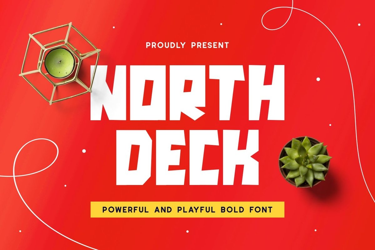 Northdeck - Powerful & Playful Font example image 1