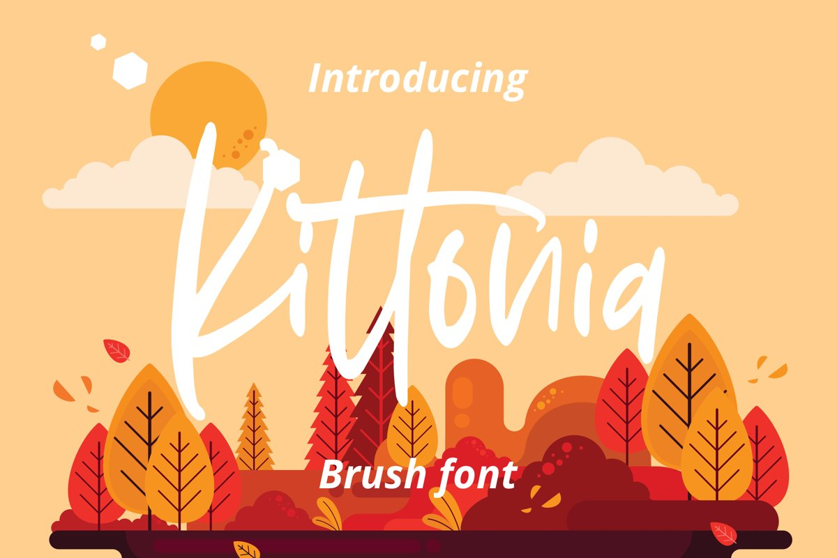 Kittonia - Script Font example image 1