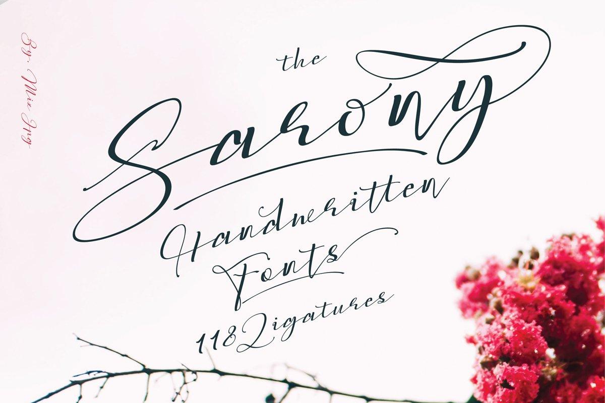 Sarony Handwritten Fonts example image 1