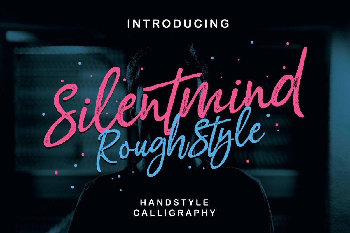 Silentmind Rough Typeface example image 1