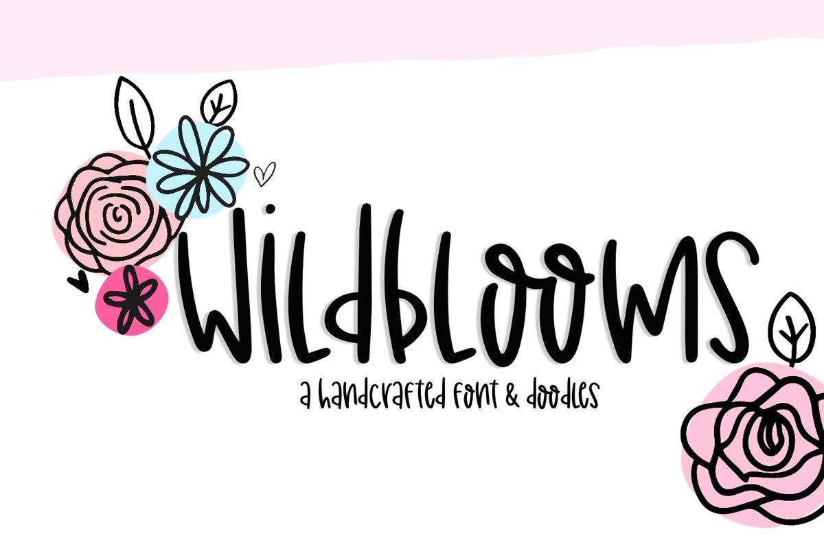 Wildblooms Handwritten Font example image 1