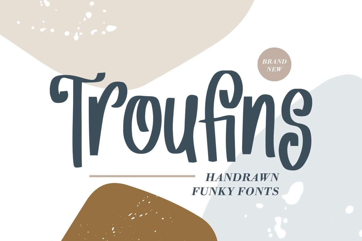 Troufins - Handrawn Funky Font example image 1