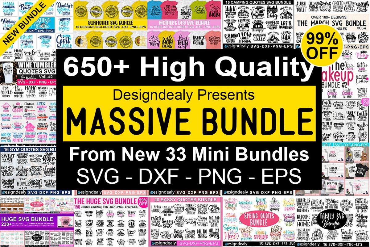 650 Designs | Massive Bundle,The Huge SVG Bundle,Big Bundle example image 1