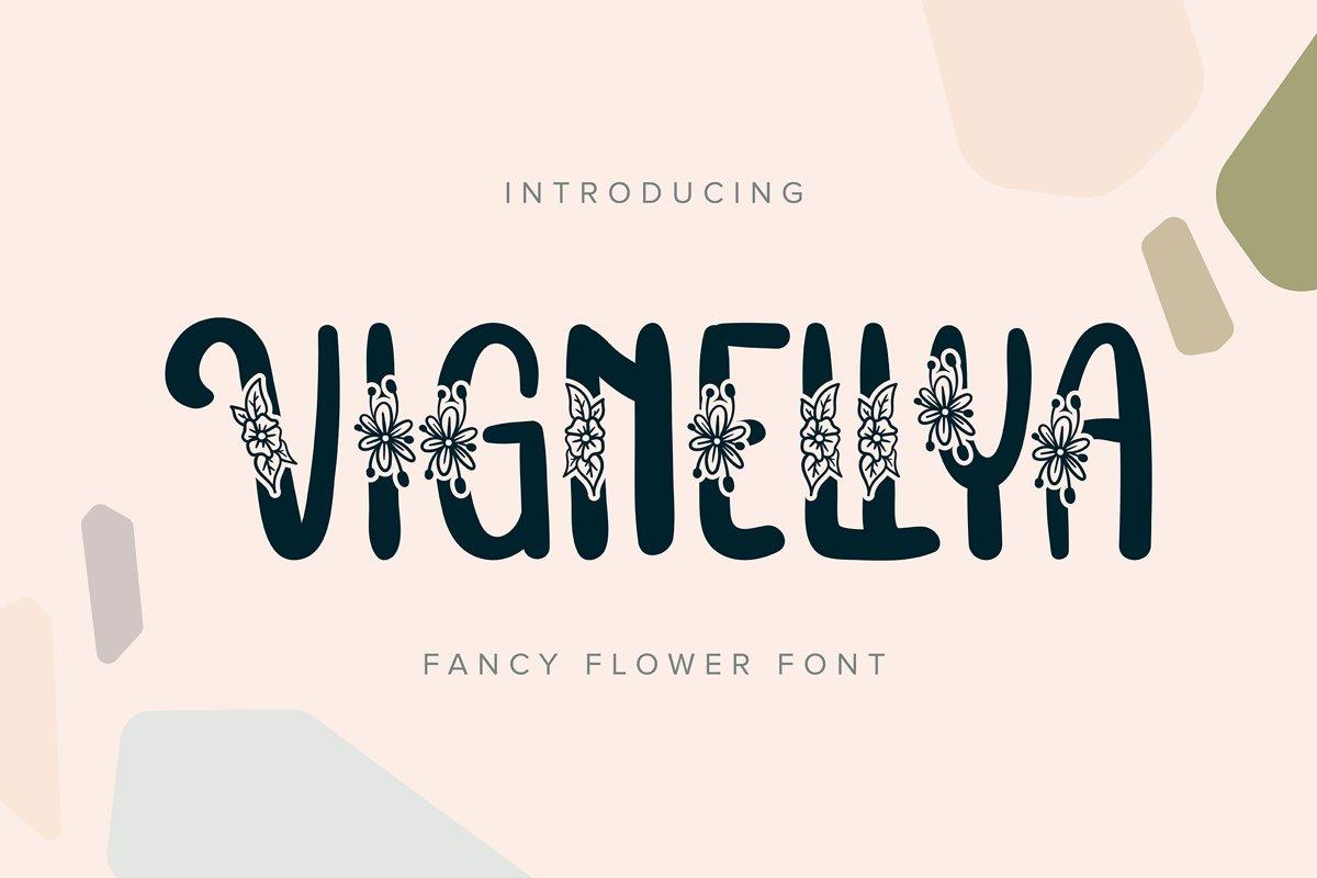Vignellya | Fancy Flower Font example image 1