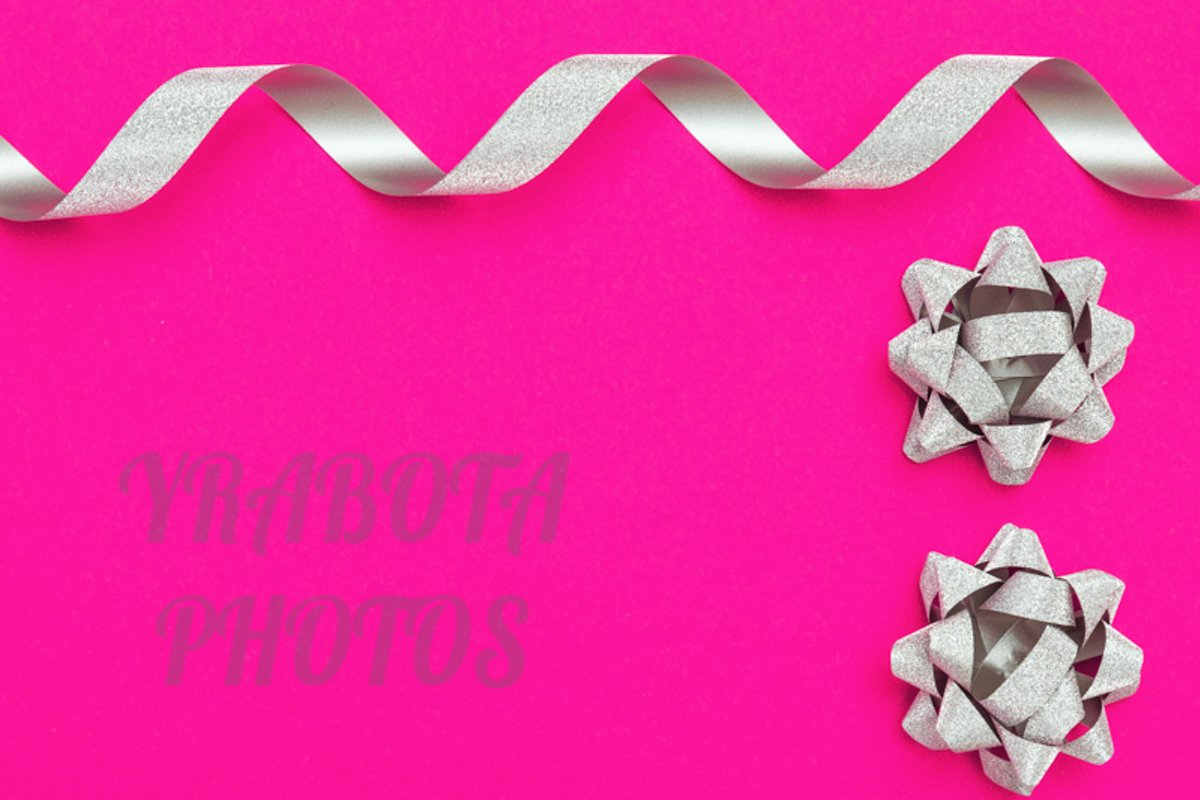 Silver streamers serpentine and bows example image 1
