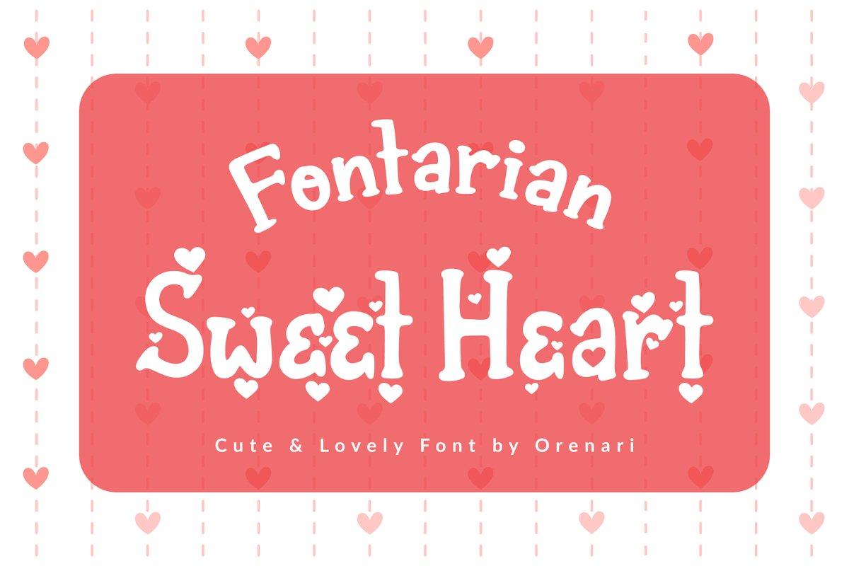 Fontarian Sweet Heart example image 1