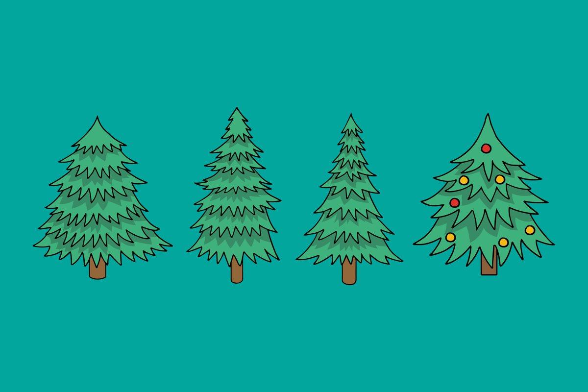 Christmas Tree Illustrations example image 1