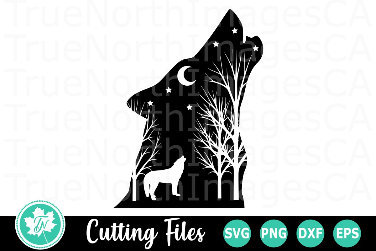 Wolf Silhouette - An Animal SVG Cut File example image 1