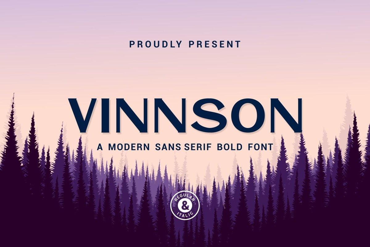 Vinnson - Modern Sans Serif Font example image 1