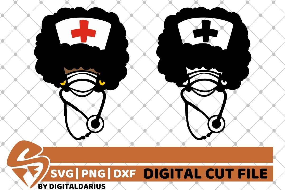 2x Afro Nurse Bundle Svg Nurse Life Svg Stethoscope Svg 551503 Cut Files Design Bundles