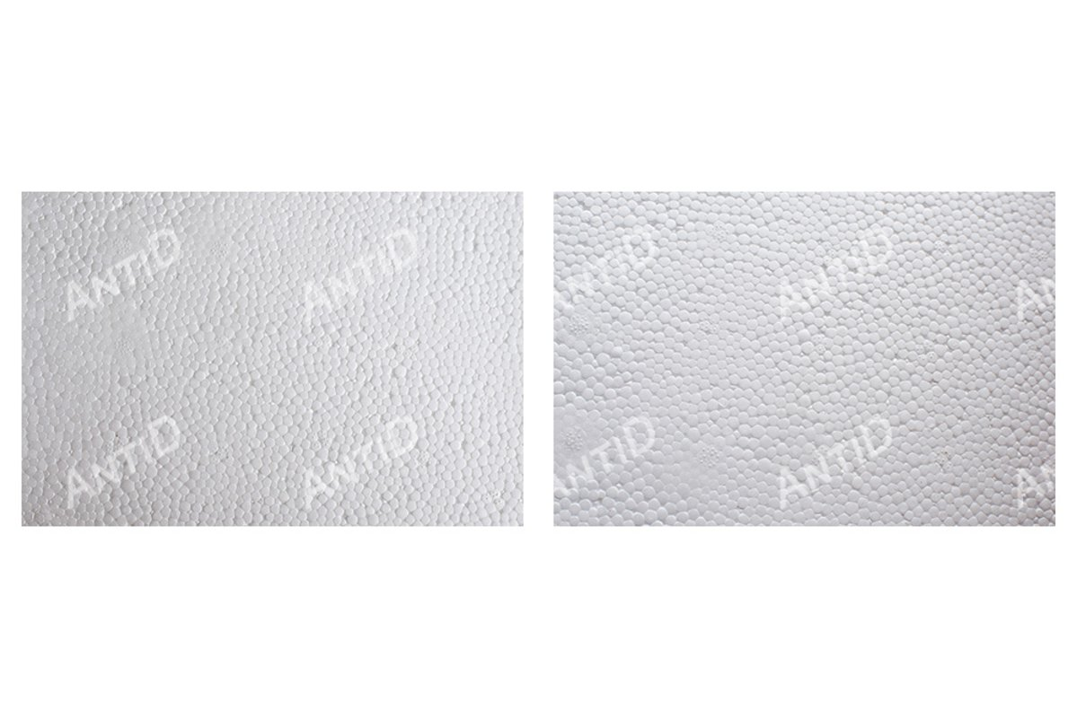 A set of 2 images. Styrofoam texture. example image 1