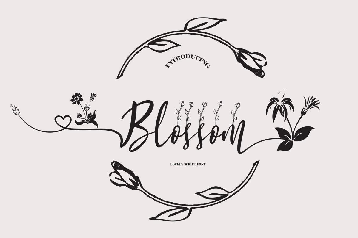 Blossom Script example image 1