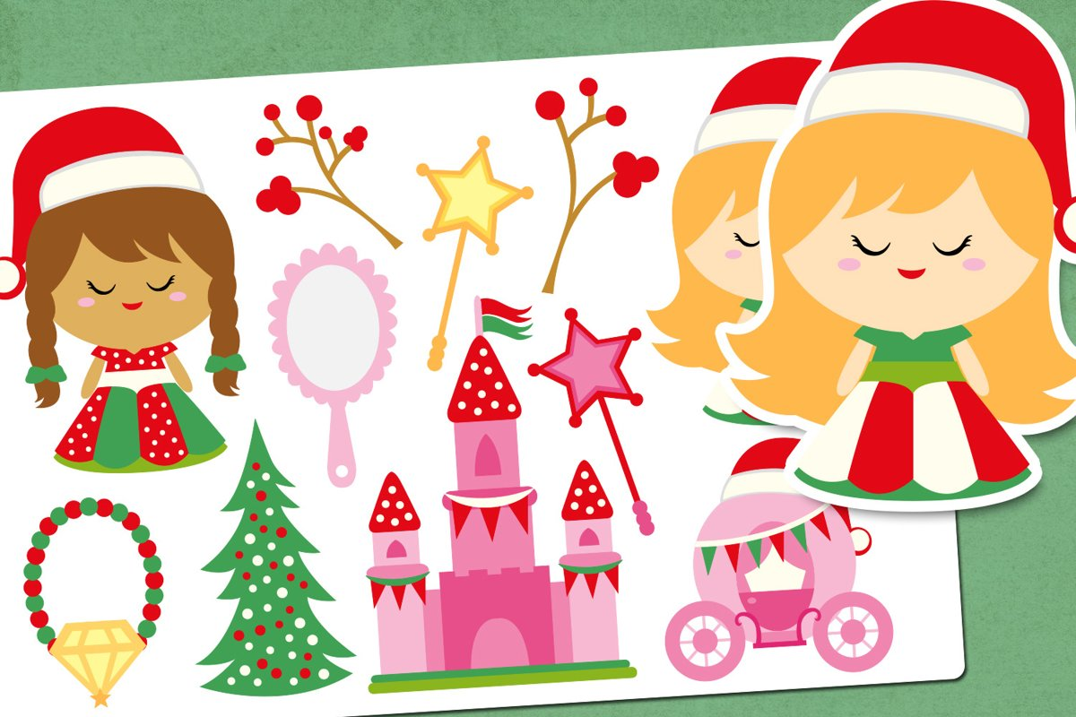 Christmas fairy tale illustrations clip art example image 1