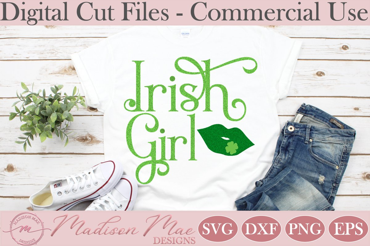 Irish Girl SVG, Saint Patrick's Day SVG example image 1