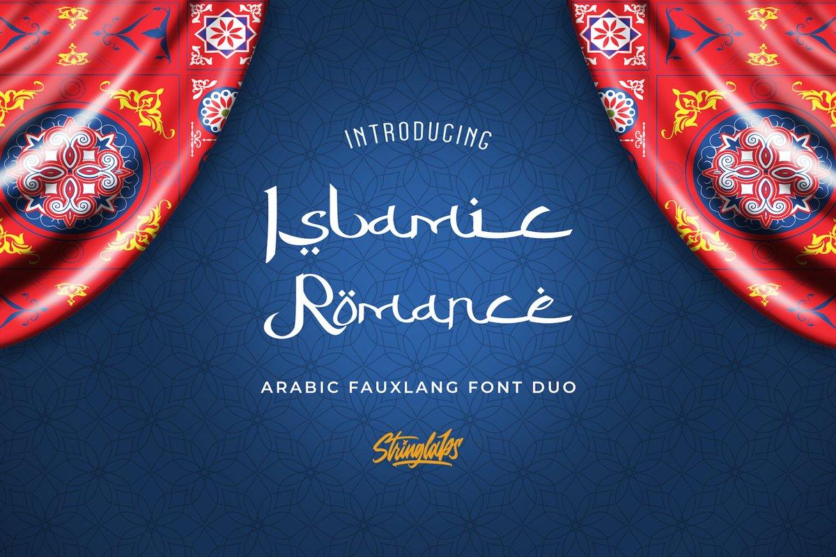 Islamic Romance - Arabic Fauxlang Font Duo example image 1