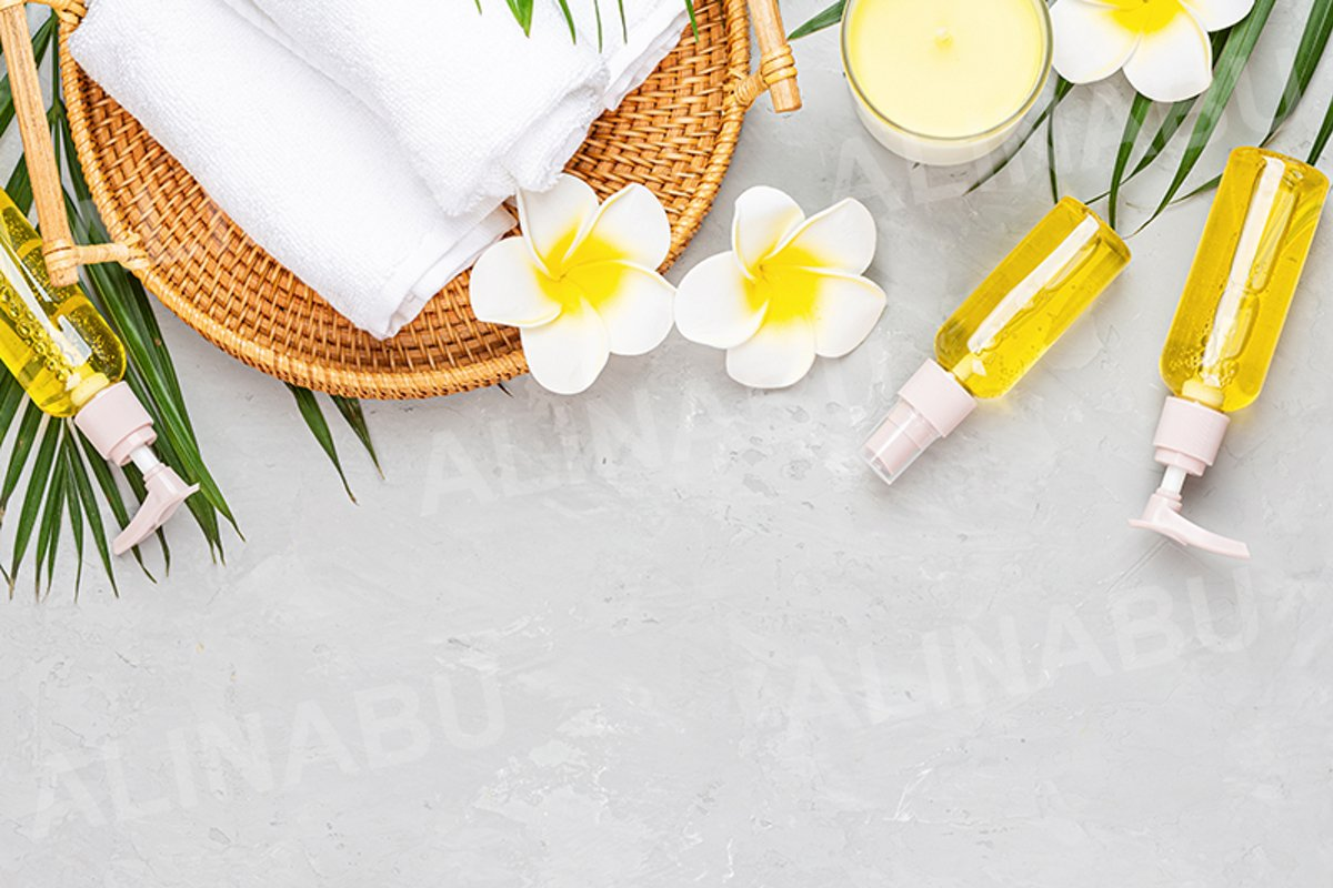 Spa massage Aromatherapy body care background example image 1