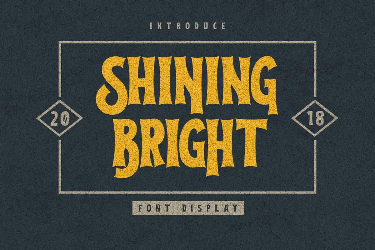 Shining Bright Typeface example image 1