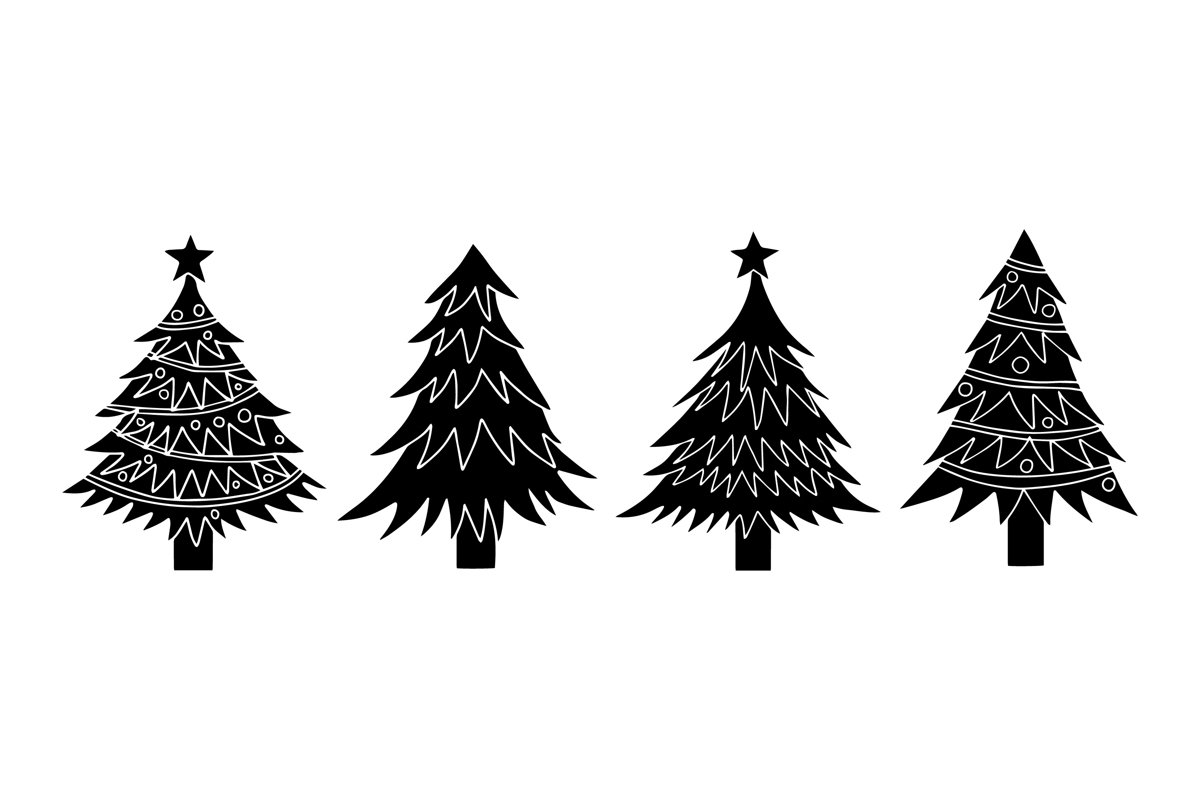 Christmas Tree Silhouettes example image 1