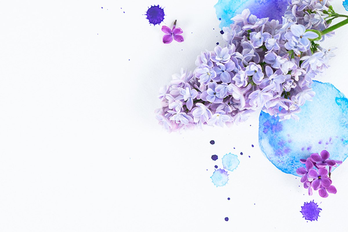Lilac watercolor example image 1