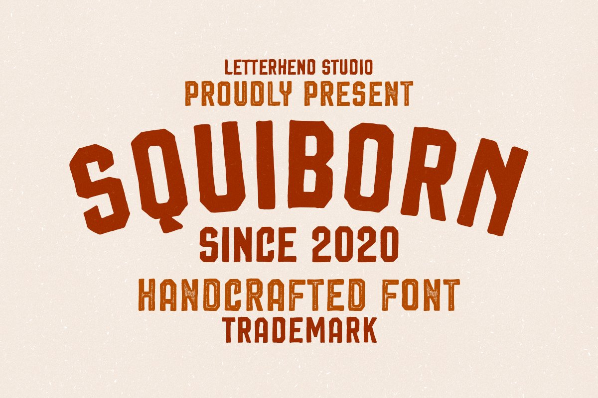 Squiborn - Logo Font example image 1