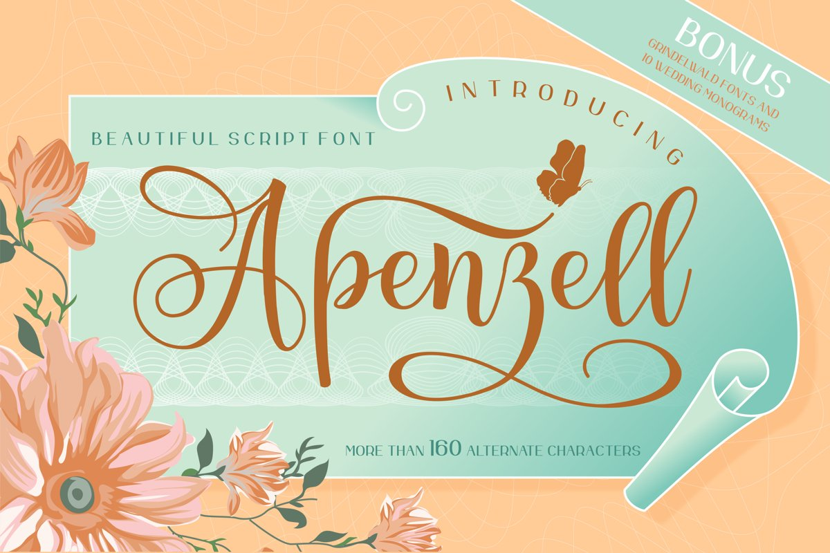 Apenzell Script | free wedding monogram logo example image 1