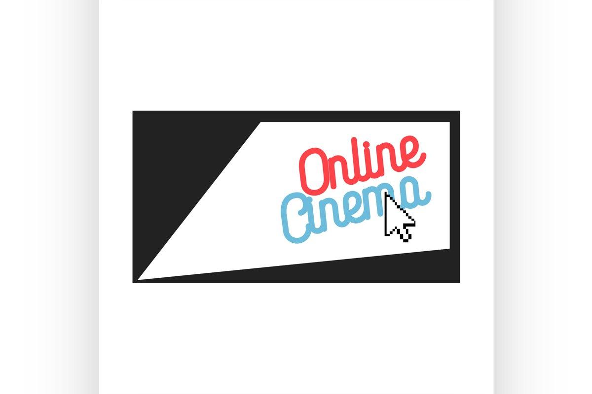 Color vintage online cinema emblem example image 1