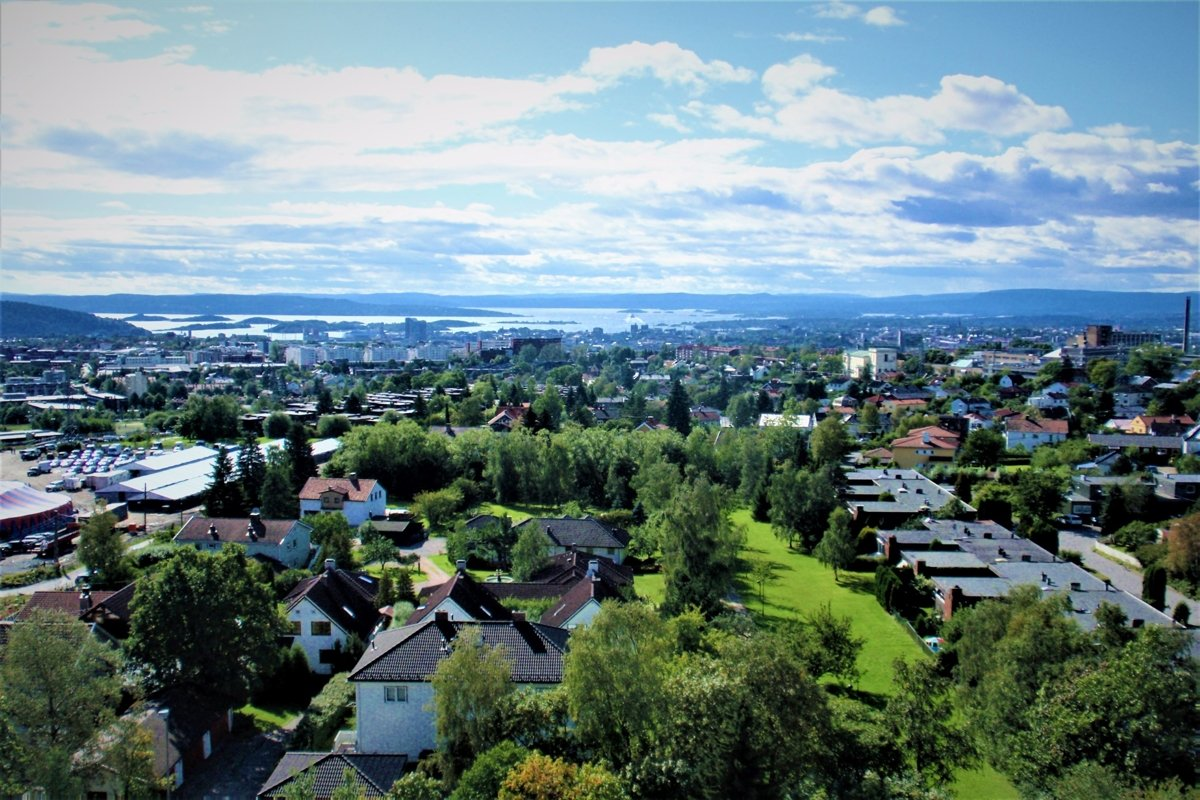 A photo of aerial views of Oslo, Norway example image 1