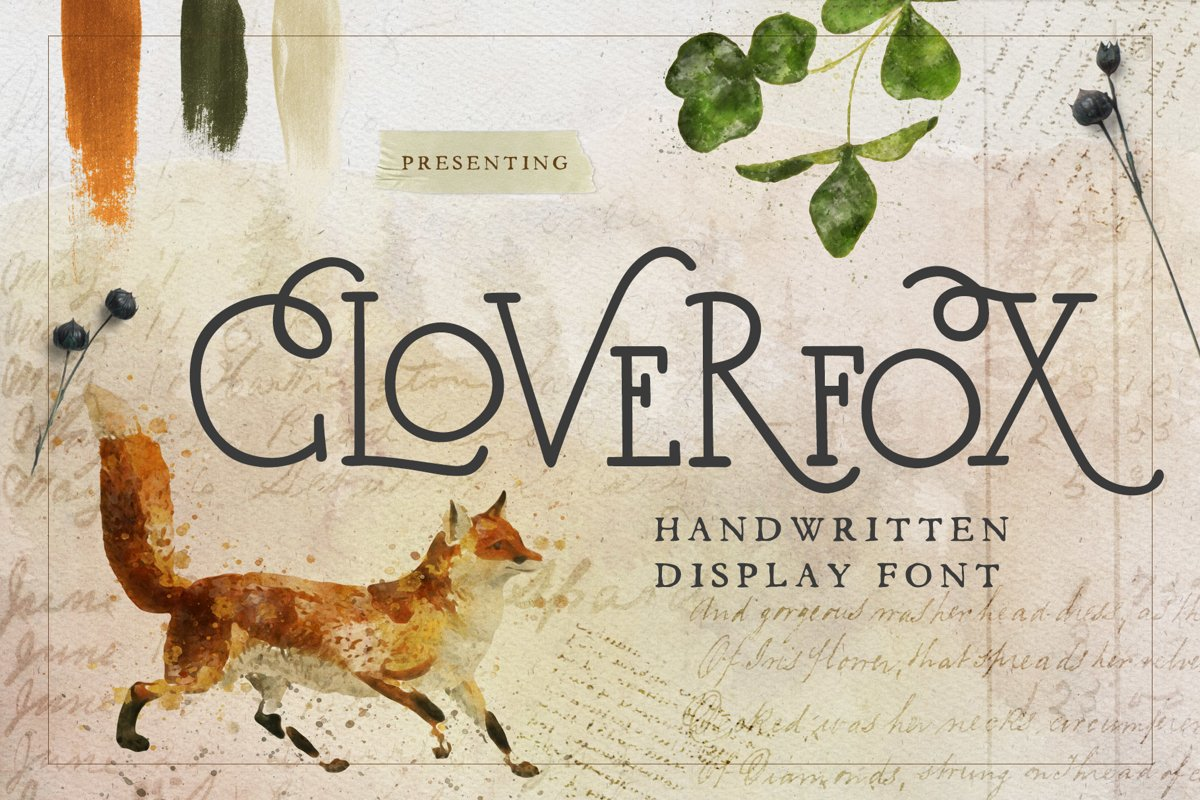 CloverFox Display Font example image 1