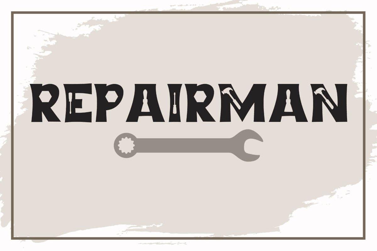 Repairman - a Fun Tool Font example image 1