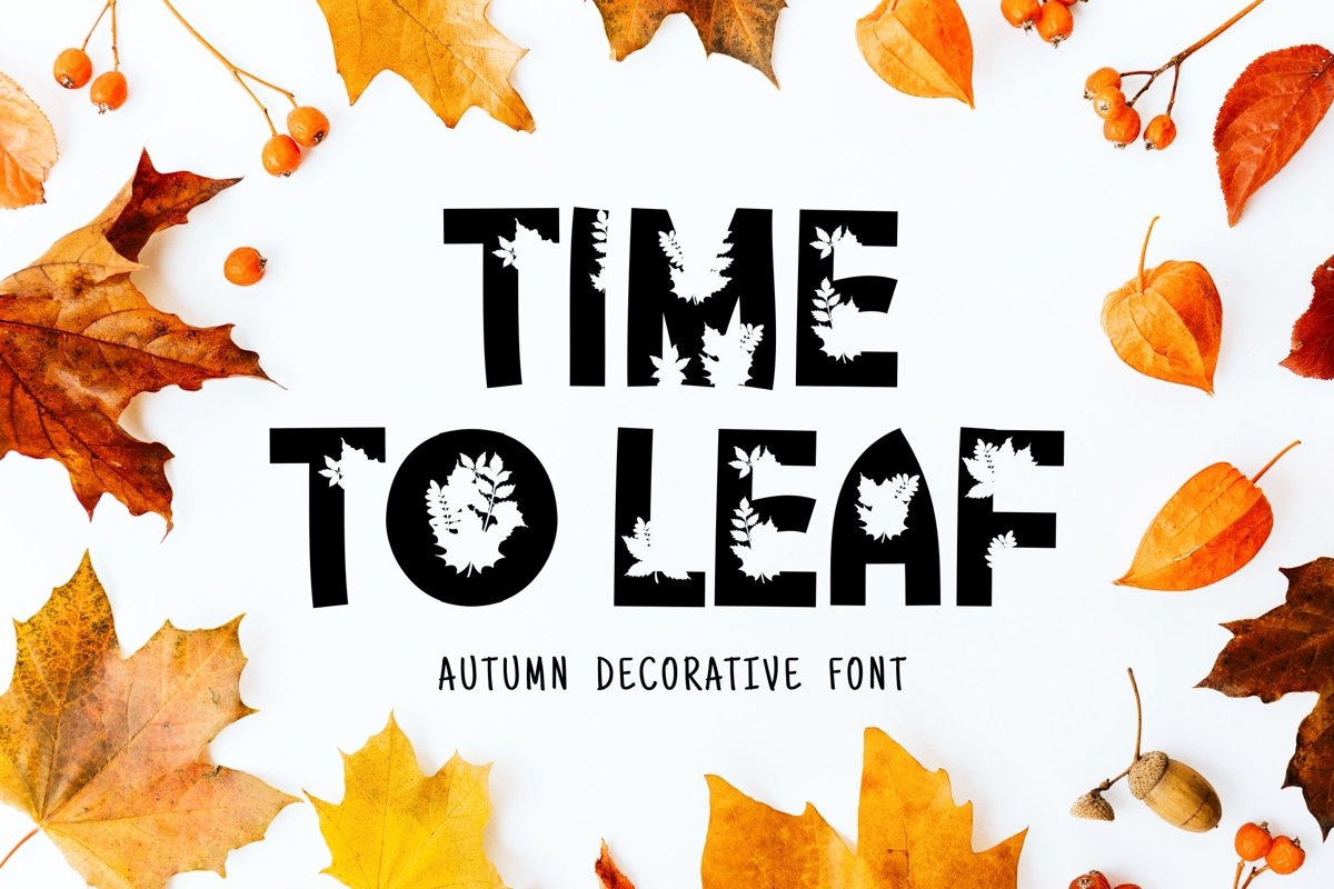 Time Too Leaf Font example image 1