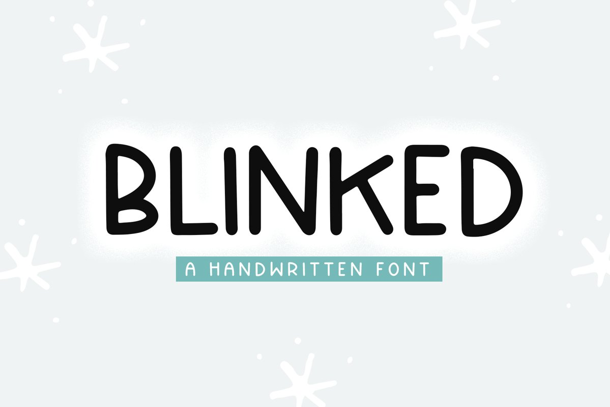 Blinked - A Handwritten Font example image 1