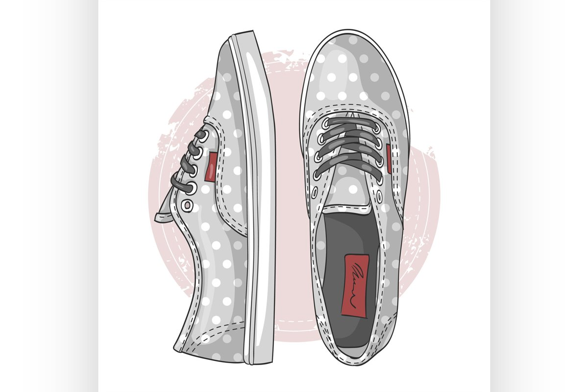 Fashion vector sketch womens shoes. example image 1