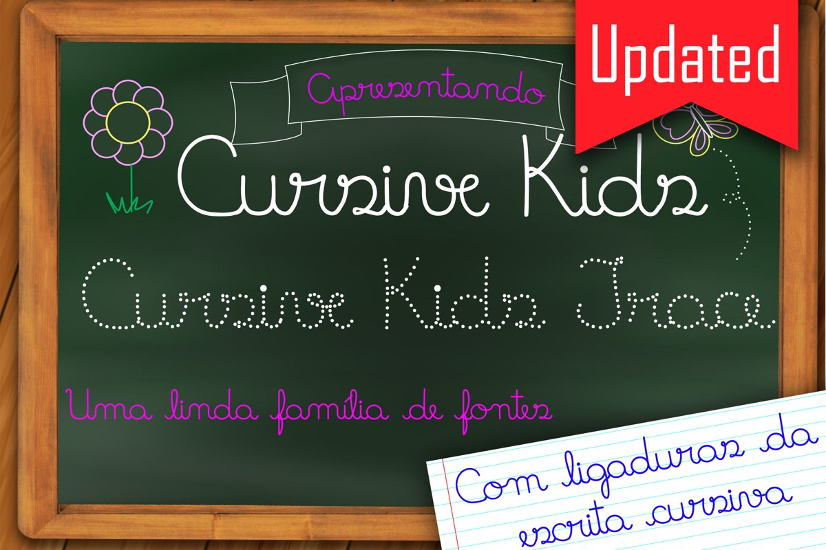 Fonts Cursive Kids and Cursive Kids Trace example image 1