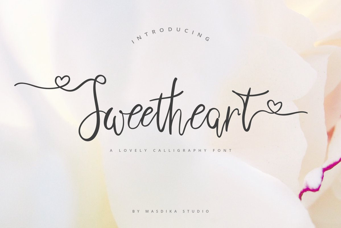 Sweetheart Lovely Calligraphy Font example image 1