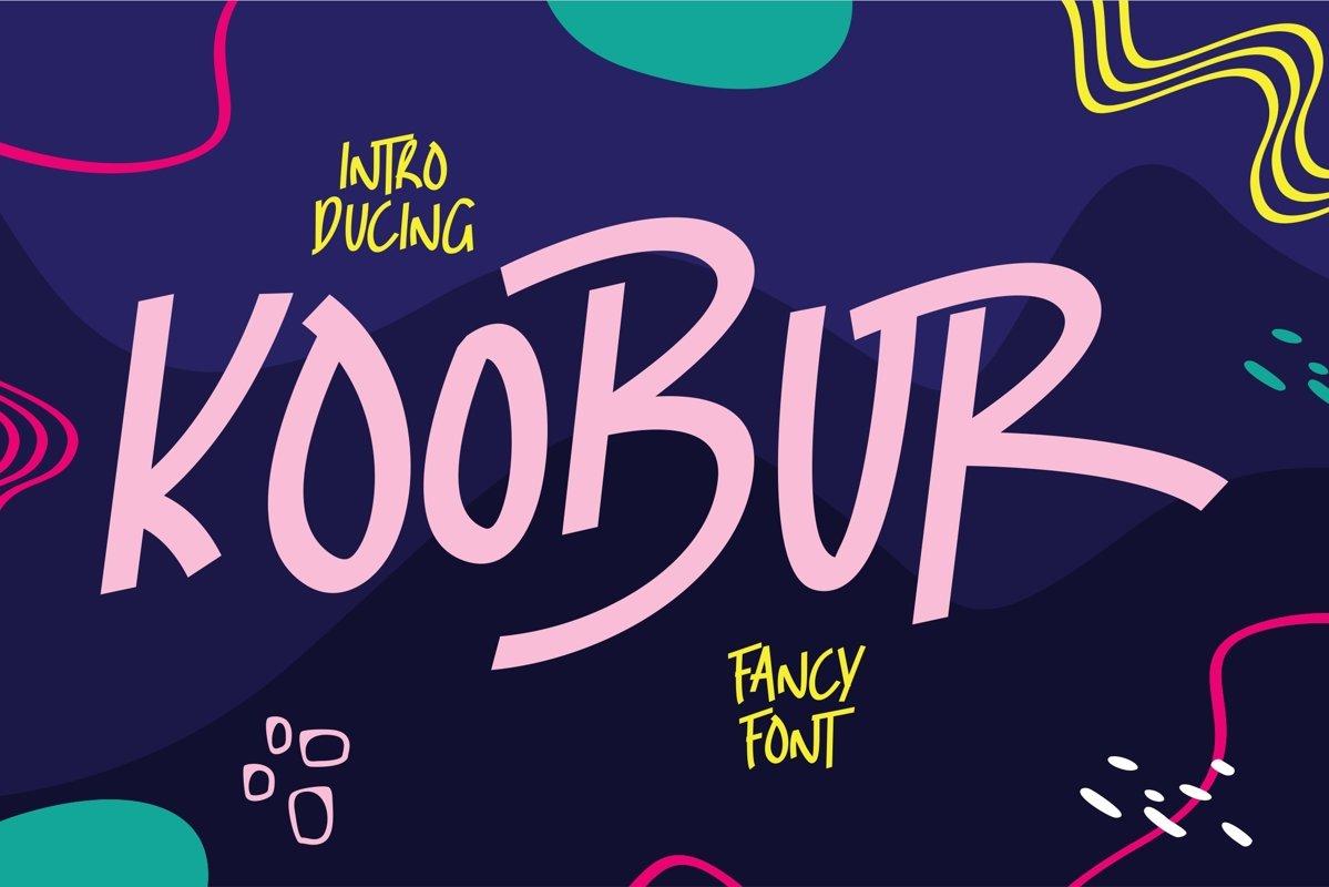 Koobur - Fancy Font example image 1