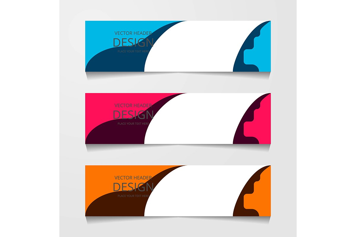 Set Horizontal web banner, with three different color, Corpo example image 1