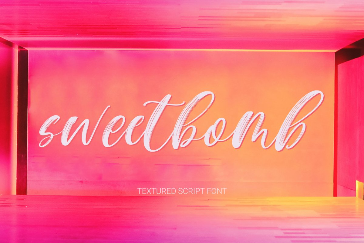 Sweetbomb textured font example image 1