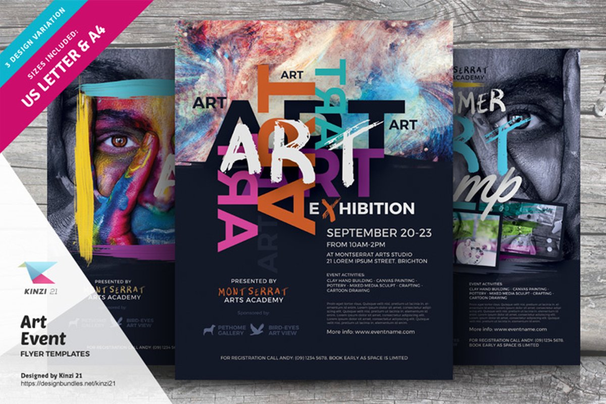 Art Event Flyer Templates example image 1