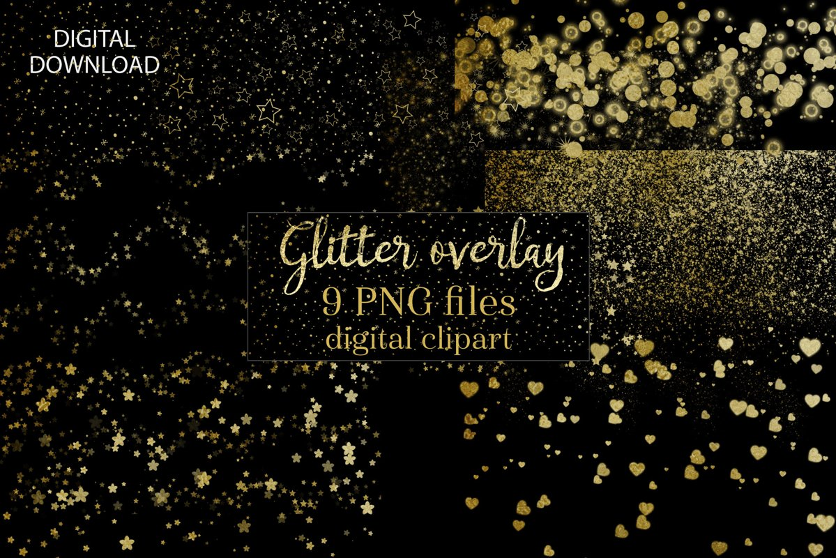 Gold Watercolour splashes PNG Clipart example image 1