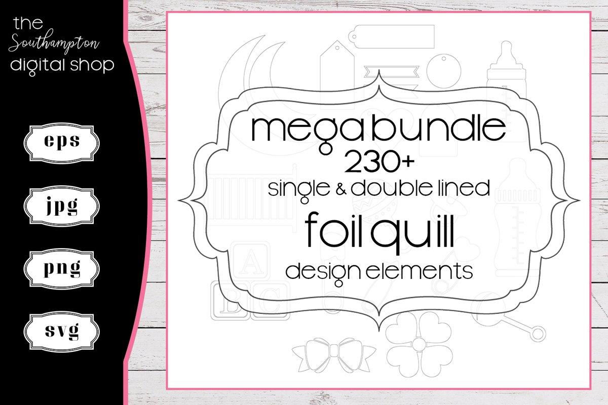 230 plus Mega Bundle Foil Quill Single & Double Line Designs example image 1