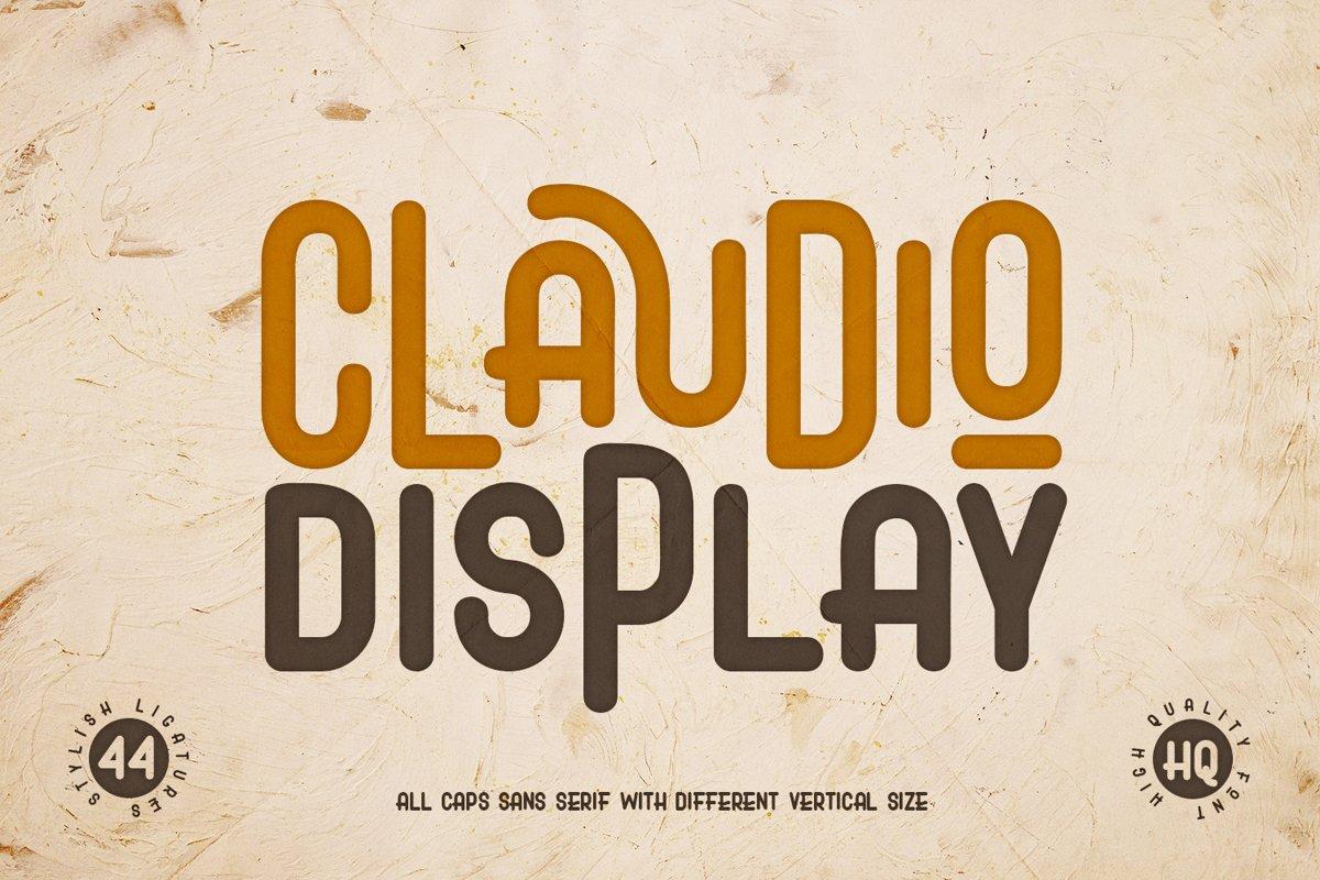 Claudio - Display Font example image 1
