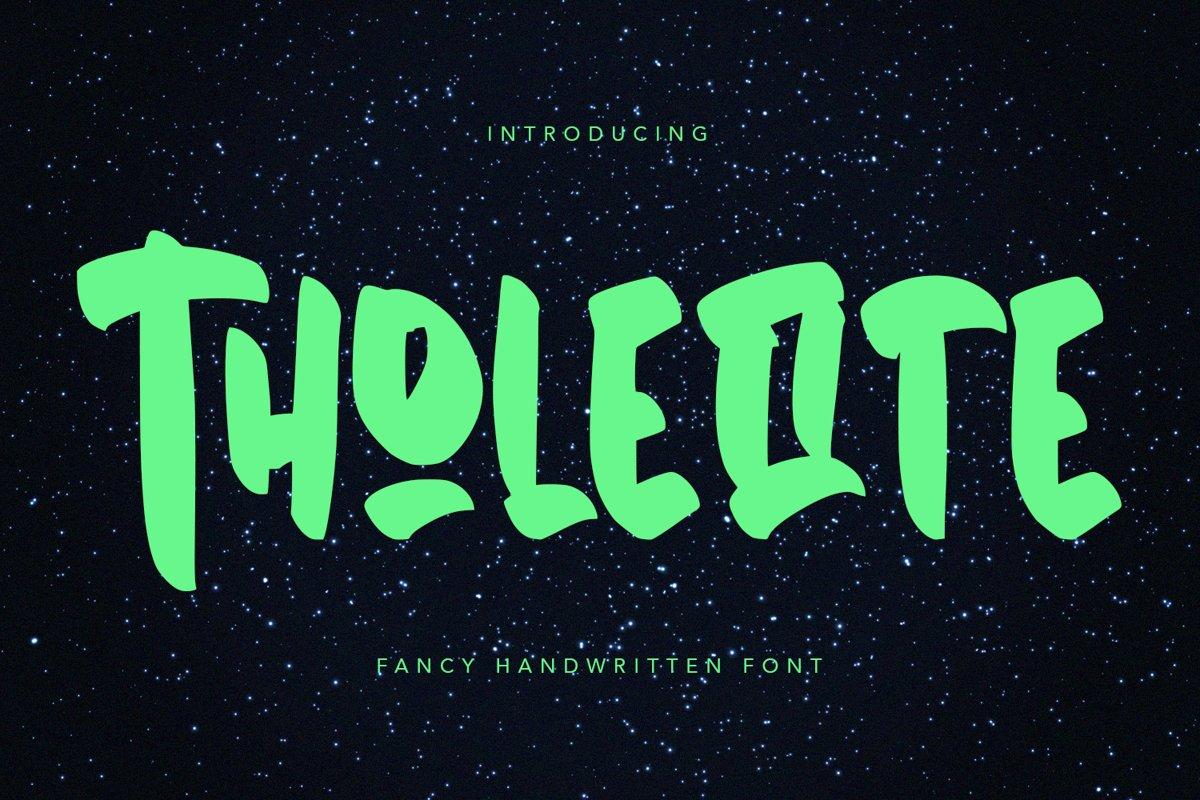 Tholeiite - Fancy Handwritten Font example image 1