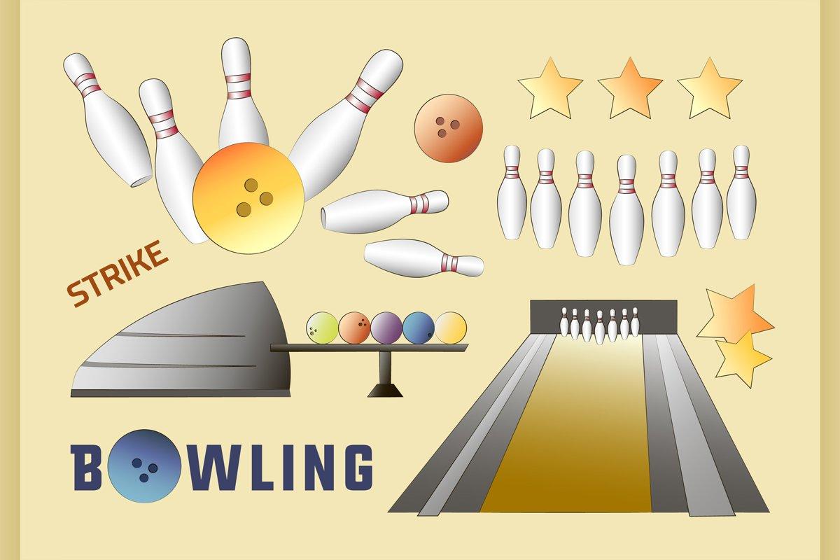Bowling icons set example image 1