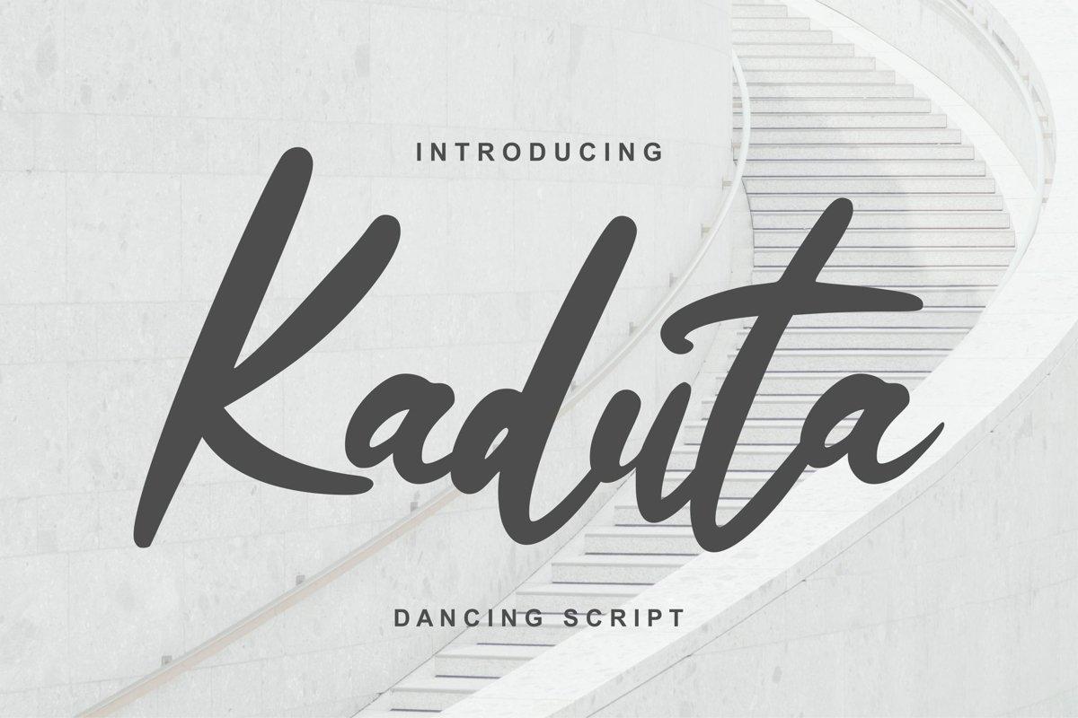 Kaduta | Dancing Script Font example image 1