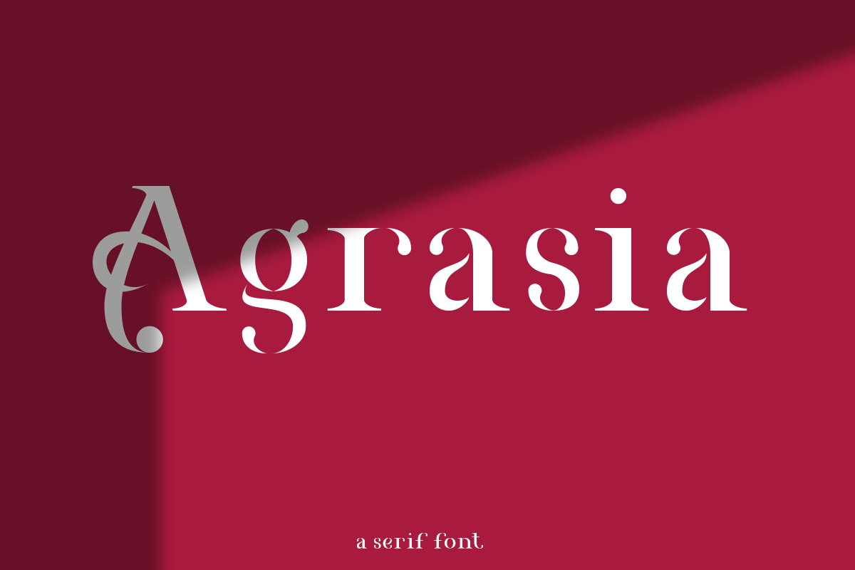 Agrasia | Serif Font example image 1